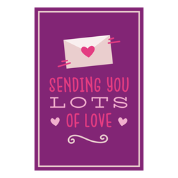 Sending lots love card
