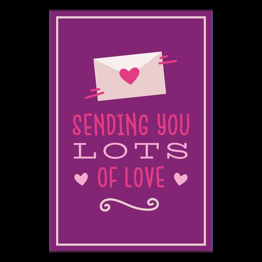Sending lots love card