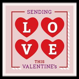 Enviando tarjeta de amor