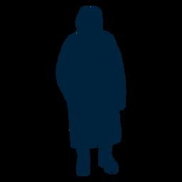 Silhueta de pose de mulher sênior