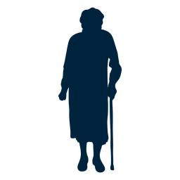 Senior woman silhouette
