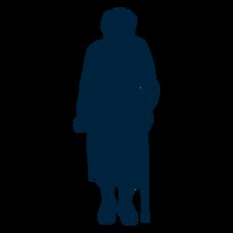 Silhueta de mulher sênior