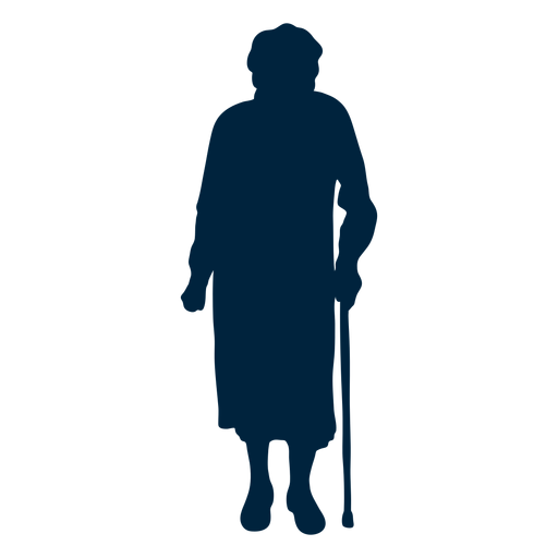 Senior woman silhouette Transparent PNG