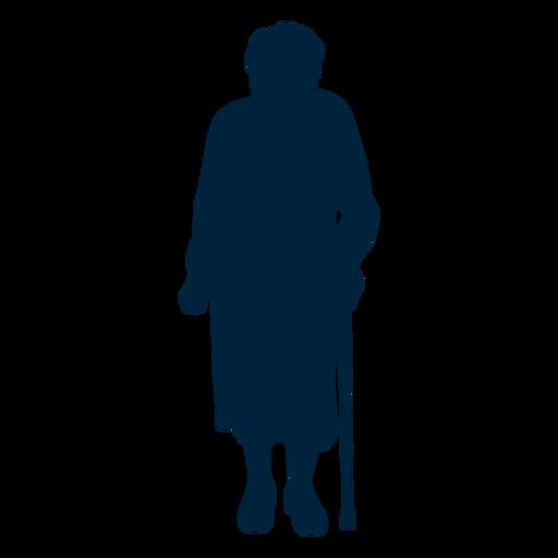 Silueta de mujer mayor