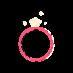 Shiny engagement ring