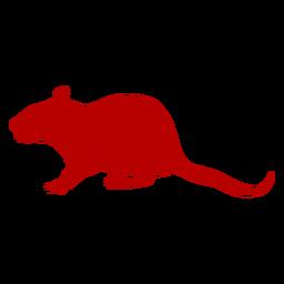 Seitenansicht Ratte chinesisches neues Jahr