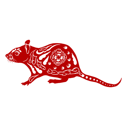 Side view rat chinese new year - Transparent PNG & SVG ...