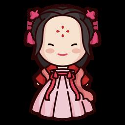 Sonriendo chino lindo