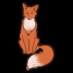 Lächelnder Fuchs Valentinstag