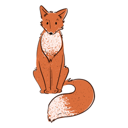 Smiling fox valentine