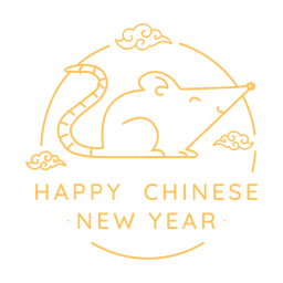 Rata sonriente año nuevo chino