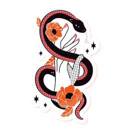 Serpente romântico triste