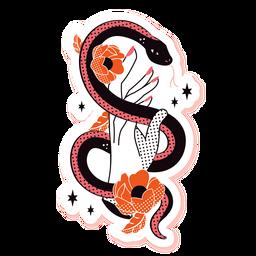 Serpiente romántica triste