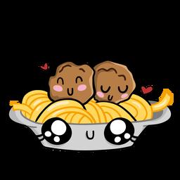 Spaghetti meatballs love