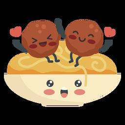 Amantes de almôndegas de espaguete