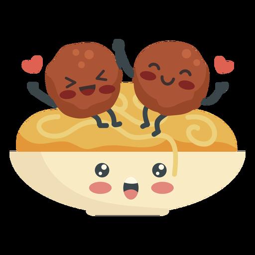 Amantes de las albóndigas de espagueti