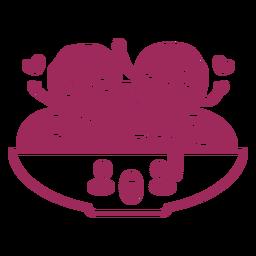 Spaghetti albóndigas amantes trazo