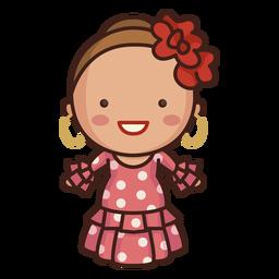 Vestido bonito senhora espanhola