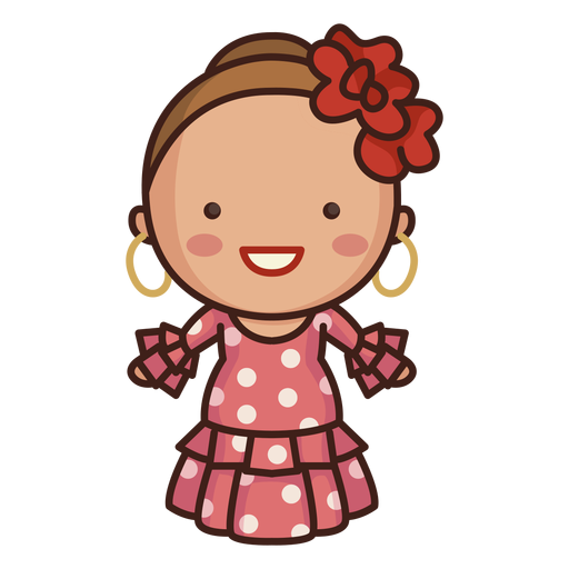 Vestido de linda dama española