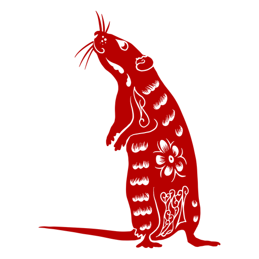 Standing rat chinese new year - Transparent PNG & SVG ...