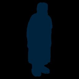 Silueta de mujer senior de pie