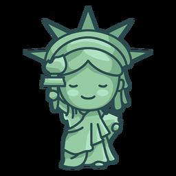 Estátua da liberdade fofa