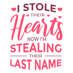Steal last name lettering