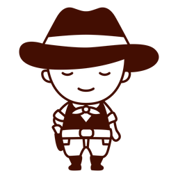 Curso americano cowboy fofo