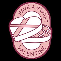 Sweet valentine badge