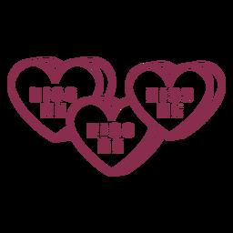 Three valentine kiss me
