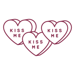 Tres san valentin besame