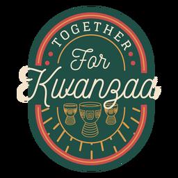 Juntos por la insignia de kwanzaa