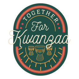 Together for kwanzaa badge