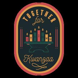 Together kwanzaa badge candles