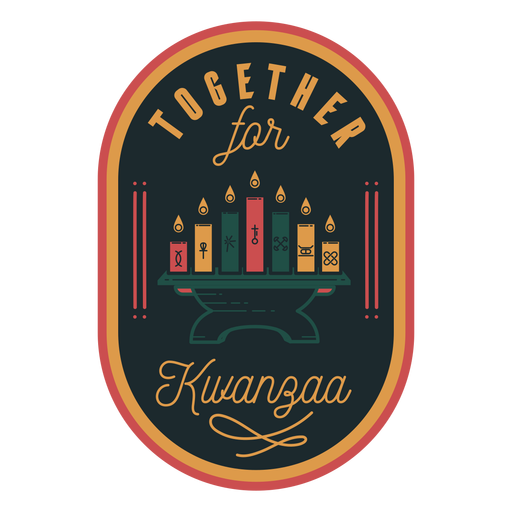 Juntos velas insignia kwanzaa Transparent PNG