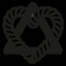 Triángulo corazón entrelazado adopción