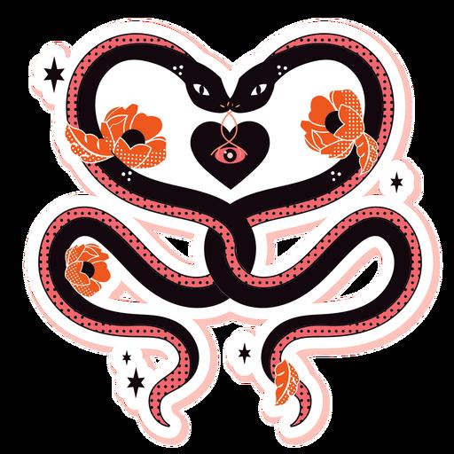 Two snakes sad romance