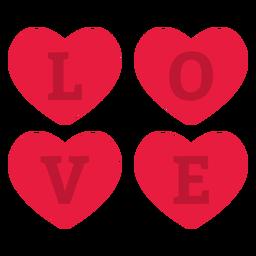 Valentine love flat