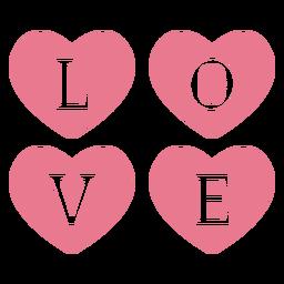 Valentine love pink
