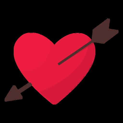 Valentine arrow heart flat