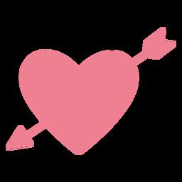 San Valentín flecha corazón rosa