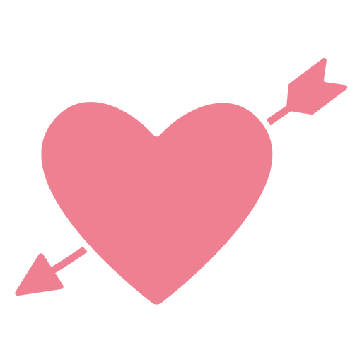 Valentine arrow heart pink Transparent PNG