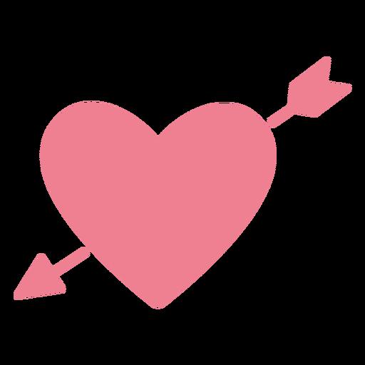 Valentine arrow heart pink