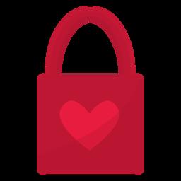 Bolsa de regalo de San Valentín plana