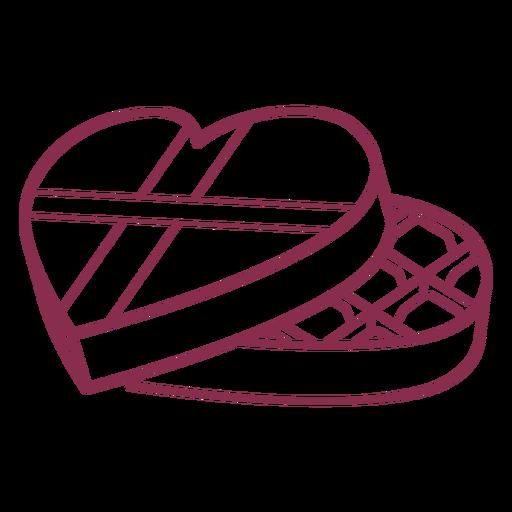 Caja de bombones de San Valentín Transparent PNG