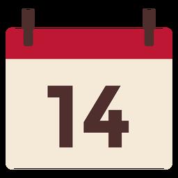 Calendario de San Valentín plano