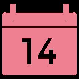 Valentine calendar pink