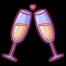 San Valentín aplaude corazón burbuja color