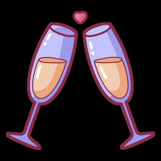Valentine cheers heart bubble colored