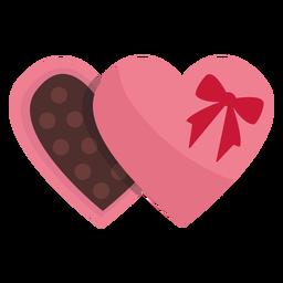 Dia dos namorados chocolate plana